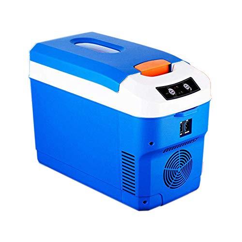 wangt 10L Blue Car koelkast, 12 V / 220 V koelbox kleine hoge prestaties dubbele spanning mini koelkast voor picknick / zelfrijder tour
