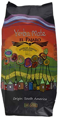 El Pajaro 'Energia Ananas' 1000g | Starker, Paraguayischer, Biologischer Mate-Tee | Mate Tee mit Catuaba, Schachtelhalm, Weißdorn, Ananas, Rosmarin | Vollständig Bio Und Organisch