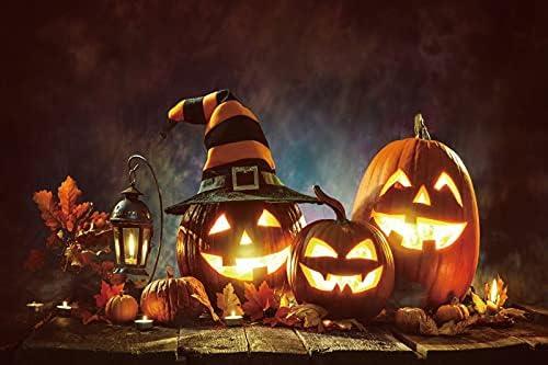 shop CSFOTO 9x6ft Happy Halloween Backdrop Lantern Maple Credence Scar Pumpkin