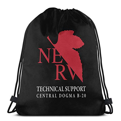 jiaocheng Bolsa con cordón para deporte, gimnasio, fiesta, regalo, mochila de almacenamiento de Goodie Evangelion Nerv