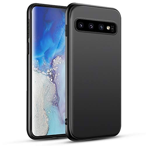 Pour Samsung Galaxy S10 Coque Samsung Galaxy S10 Coque pour téléphone portable Coque en silicone noir Compatible avec Samsung S10, Coque pour téléphone portable ultra mince noir Coque de protection antichoc, Noir