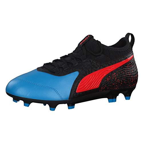Puma ONE 19.3 FG/AG Jr Fußballschuhe, Blau Bleu Azur Red Blast Black 1, 38 EU