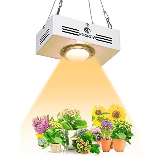 Lampada LED Per Piante, PDGROW COB Lampada Crescita Sunlike 3500K Spettro Completo Luci Piante Da Interno, Veg E Fiore 150W HPS/MH Equivalente, Mini Formato Uscita PAR Alta