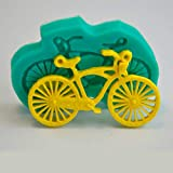 ZPZZPY Herramientas De Decoración De Pasteles Forma De Bicicleta Molde De Silicona 3D Molde De Pastel De Magdalena Molde DeChocolate Molde para Hornear