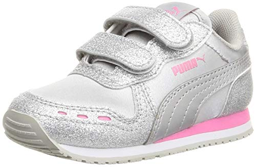 Puma Baby Mädchen CABANA RACER GLITZ V INF Sneaker, Silver Silver-Sachet Pink, 25 EU
