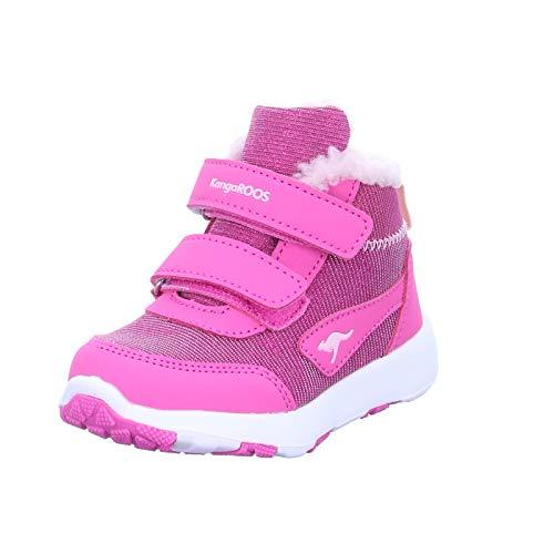 KangaROOS Snowdrifter, Sneakers Basses Garçon Mixte bébé, Violette (Daisy Pink/Frost Pink 6151), 25 EU
