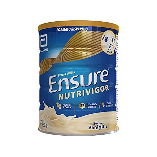 Ensure NutriVigor Integratore in Polvere, Multivitaminico Multiminerale con 27 Vitamine e Minerali | Integratore alimentare con Proteine, Calcio e HMB | Confezione 850g | Gusto Vaniglia