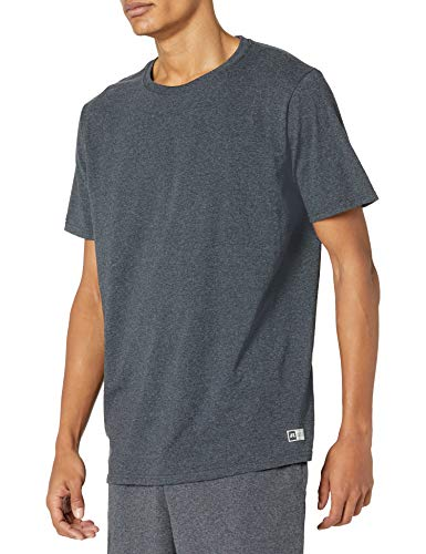 Russell Athletic mens Performance Cotton Short Sleeve T-Shirt, black heather, 3XL