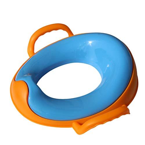 Creu-home Bébé Réducteur De Toilette, Rehausseur WC Enfant Siège De Toilette Dossier, Conception Antidérapants Ergonomique,Bleu