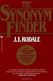 Synonym Finder New Edition by Rodale, J.I. published by Little, Brown US (1997)