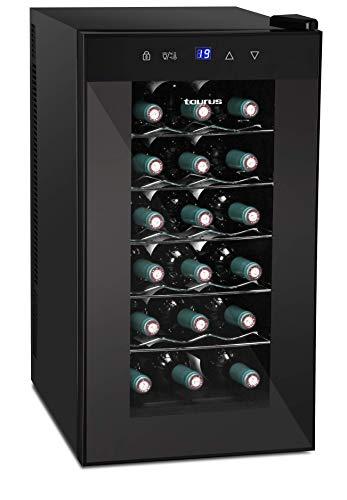 Taurus PTWC-18 Vinoteca de 18 botellas, Negro