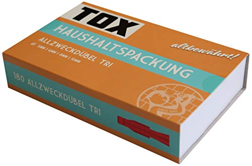 TOX Allzweckdübel - Sortiment Haushaltspackung, mit Tri Ø 5 mm, 6 mm, 8 mm, 10 mm, 180 tlg, 094900001