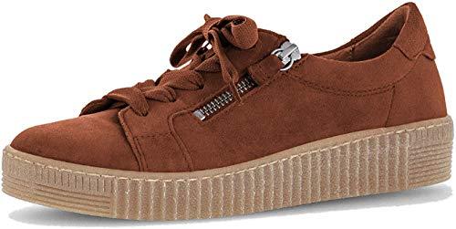 Gabor Damen Low-Top Sneaker 33.334, Frauen Sneaker,Halbschuh,Schnürschuh,Strassenschuh,Business,Freizeit,Whisky (Natur),38 EU / 5 UK