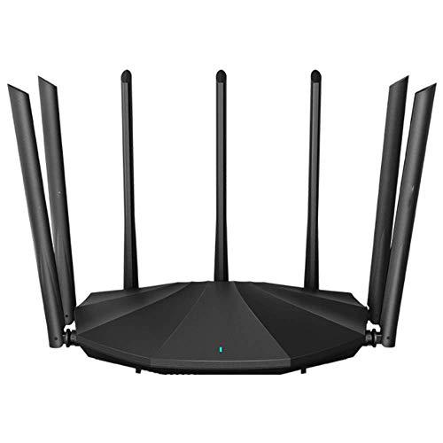 XIONGDA Repetidor WiFi Extensor WiFi Doble Banda De 5Ghz Y 2,4 GHz, Amplificador De Señal WiFi con 7 Antenas De Alta Frecuencia Y Puerto Ethernet, Adecuado para El Hogar (Negro)