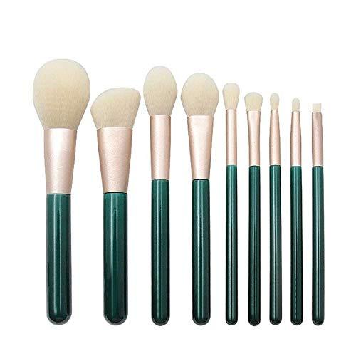 WNNZJHL Fond de Teint Pinceau Maquillage Poignée en Bois Vert foncé