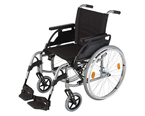 Sunrise Medical Rollstuhl Breezy UniX², faltbar, Rückenlehne verstellbar I Faltrollstuhl aus Stahl, bis 125 kg belastbar, Standard-rollstuhl in 5 unterschiedlichen Sitzbreiten, Sitzbreite: 50 cm
