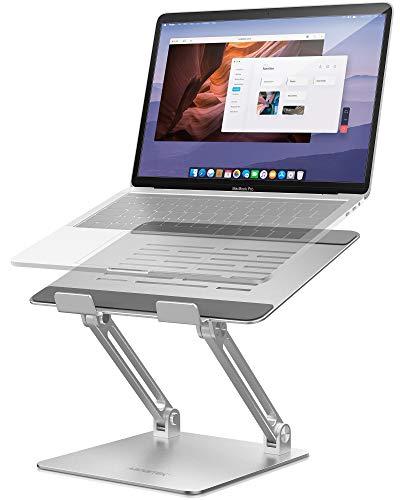 AboveTEK Supporto Portatile per PC Laptop Computer, Laptop Stand in Alluminio fino a 17,3 Pollici, Rialzo Portatile Scrivania Ergonomica Compatibile con MacBook Pro HP Laptop Desktop per Ufficio Casa