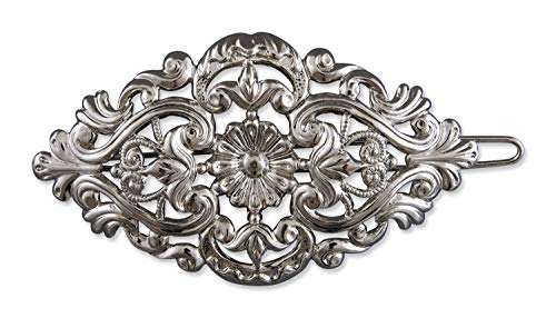 Rivelle Damen Trachten Haarspange alt-Silber Haarschmuck Vintage Hochzeit Metall Silber