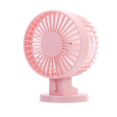 Zaraddia Ventilador, Ventiladores de enfriamiento de Mesa de Escritorio de Verano de Mini Ventilador eléctrico portátil de Mano con Carga USB Nuevo(Rosado)