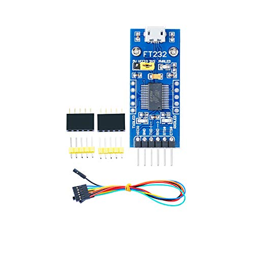 Venel FT232 USB UART Board (Micro) USB to UART Solution with USB Micro Connector Supports Mac, Linux, Android, Wince, 3 Power Mode, 3.3V-5V