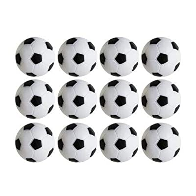 Table Soccer Foosballs Replacements Mini Black and White Soccer Balls