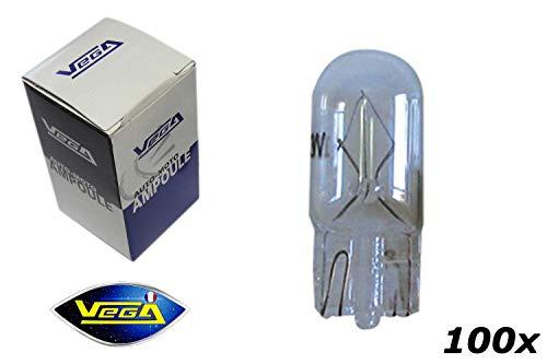 VEGA 100 Ampoules W5W T10 Halogène Maxi 12V