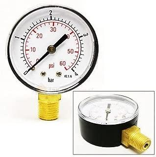 Pool Spa Filter Water Pressure Gauge 0-60 PSI Side Mount 1/4