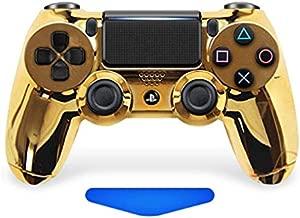 Chrome Gold Ps4 Rapid Fire Custom Modded Controller 35 Mods COD Advanced Warfare, Destiny, Ghosts Quick Scope Auto Run Sniper Breath and More (CUH-ZCT2U)