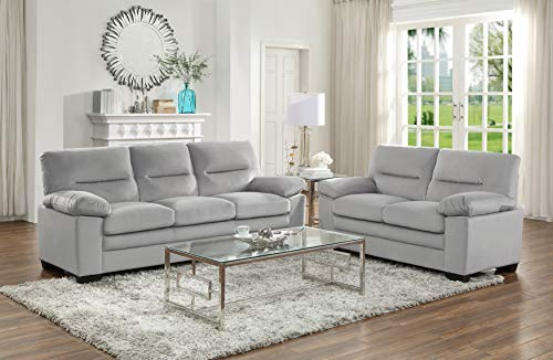 Lexicon Dawson 2-Piece Living Room Set, Gray