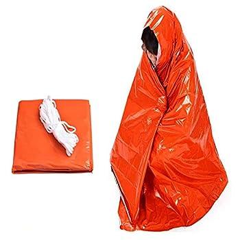 WINSTON-UK Couverture de survie thermique en feuille d'argent Mylar - Résistant au vent - Imperméable et réutilisable - Idéal pour l'extérieur, le camping, la randonnée