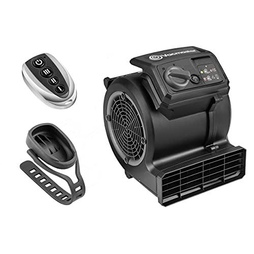Vacmaster Air Mover Cardio54 Ventilatore da Palestra da Pavimento con Telecomando Ventilatore da Bicicletta Silenzioso, 3 Livelli Asciugatrice per Tappeti, Raffreddare,Riparare i Danni dell'Acqua