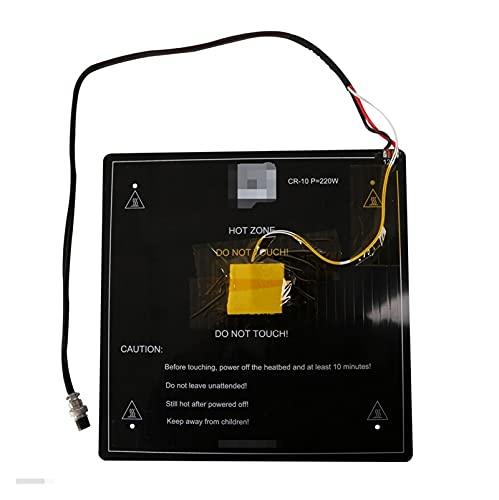 durable Impresora 3D Piezas Negro Ajuste para MK3 Hotbed Último alquiler de aluminio Cama climatizada 12V Fit para CR-10 / CR-10S 4S 310 * 310 * 3mm / 410 * 3mm / 410 * 410 * 3mm Opción Wearable