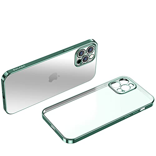 Design per iPhone 13pro / iPhone 13pro Max - Custodia trasparente con cornice di placcatura (iPhone 13, verde)