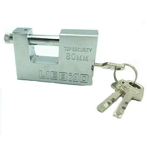 Lotus Container Garage Shed Shutter Chain Warehouse Padlock Heavy Duty high Security Padlock 80mm 3 Keys