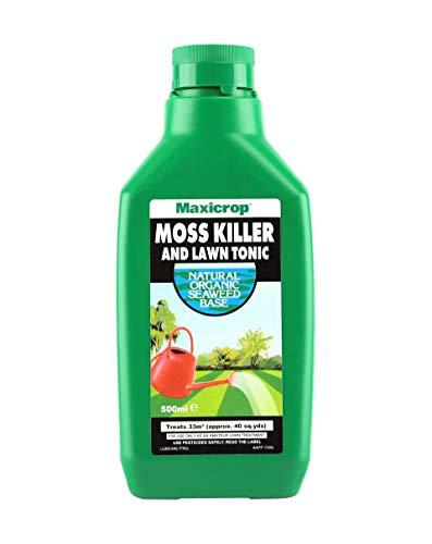 Maxicrop 86600257 Tue-mousse et tonique pour pelouse, extrait naturel d'algues et anti-mousse et tonique pour pelouse, 500 ml, concentré