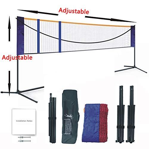 APOE Badmintonnetz, Badminton Set Einstellbare Breite und Höhe Tragbares Faltbar Tennisnetz 5.18m/6.1m Ideal für Picknicks, Outdoor- und Strandsportarten