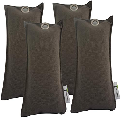 TISYHOME - Bolsa de carbón activo de bambú absorbente, absorbe malos olores, absorbente, purificador de aire natural, antimoho, ideal para zapatos, armario, nevera o bolsa de deporte, guantes coche