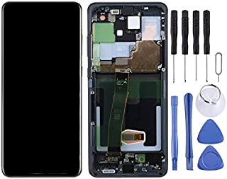 QFH Replacement parts LCD Screen and Digitizer Full Assembly with Frame for Samsung Galaxy S20 Ultra طقم استبدال شاشة الها...