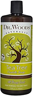 Dr. Woods Pure Cleansing Tea Tree Liquid Castile Soap, 32 Ounce