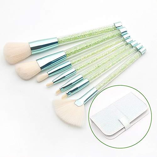 L.L.QYL Brosses Brosse de Maquillage en Vrac de Poudre de Maquillage de poignée Transparente de granules de Diamant réglée avec Le Sac d'unité Centrale Maquillage pour Les Femmes