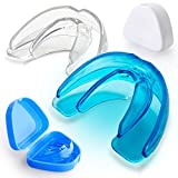 Vanmor Double Braces Sports Mouth Guards, Youth Mouthguard for Upper and Lower Teeth Protection, No Boiling Required for Youth, Teenager and Adults