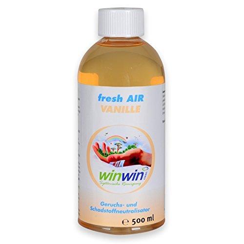 winwin clean Systemische Reinigung Fresh AIR 'VANILLE' 500ML I LUFTREINIGUNGSKONZENTRAT I AUCH BESTENS GEEIGNET FÜR proWIN AIR Bowl