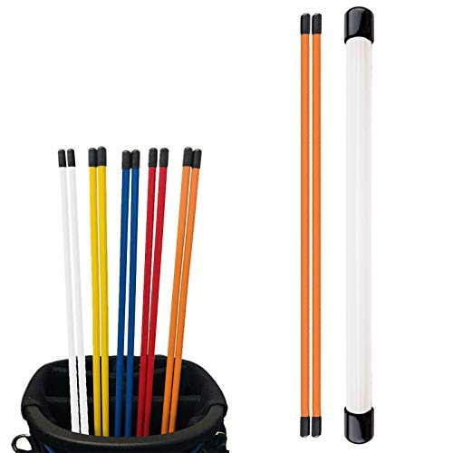 FINGER TEN Golf Alignment Sticks with Cover 48 Inch Practice Stick Value...