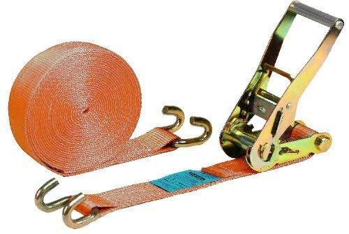 Ponsa 027136050104 Ratchet – Tendeur professionnel – Cliquet Crochet ouvert 50mm, Longueur Résistance 8,5 m - Orange