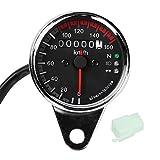Contagiri moto 12V Moto 0-160 KM/H Contachilometri Contachilometri LED Retroilluminazione ...