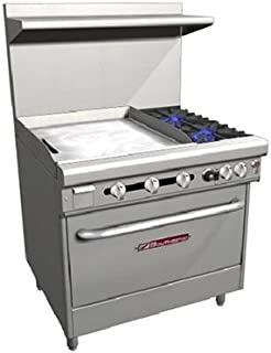 Southbend H4361A-2GL LP - 36-in Range w/ 2-Burners & 24-in Left Griddle, Electric Convection Oven, LP