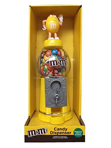 M&M's - Dispensador de chocolate y caramelo, color amarillo, 23 cm