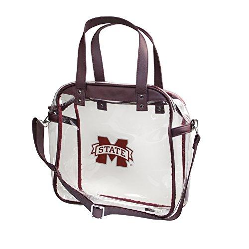 Universidad del Estado de Mississippi Bulldogs Capri diseños claramente Fashion con Licencia Claro Bolso Tote Cumple con los requisitos de Estadio