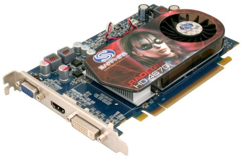 Sapphire ATI Radeon HD 4670 Grafikkarte (PCI-E, 512M GDDR3 Speicher, VGA, Dual DVI-I, HDMI-Ausgang, 1 GPU)