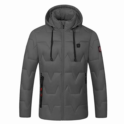 Learn More About Dainzuy Men's Down Heated Jacket with Battery Hand Warmer Solid Color Smart USB Ele...